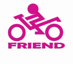 Sticker, Biker Friend (pink)
