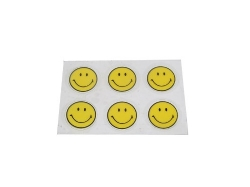 Sticker, 6 x smiley