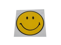 Sticker, smiley (stor)
